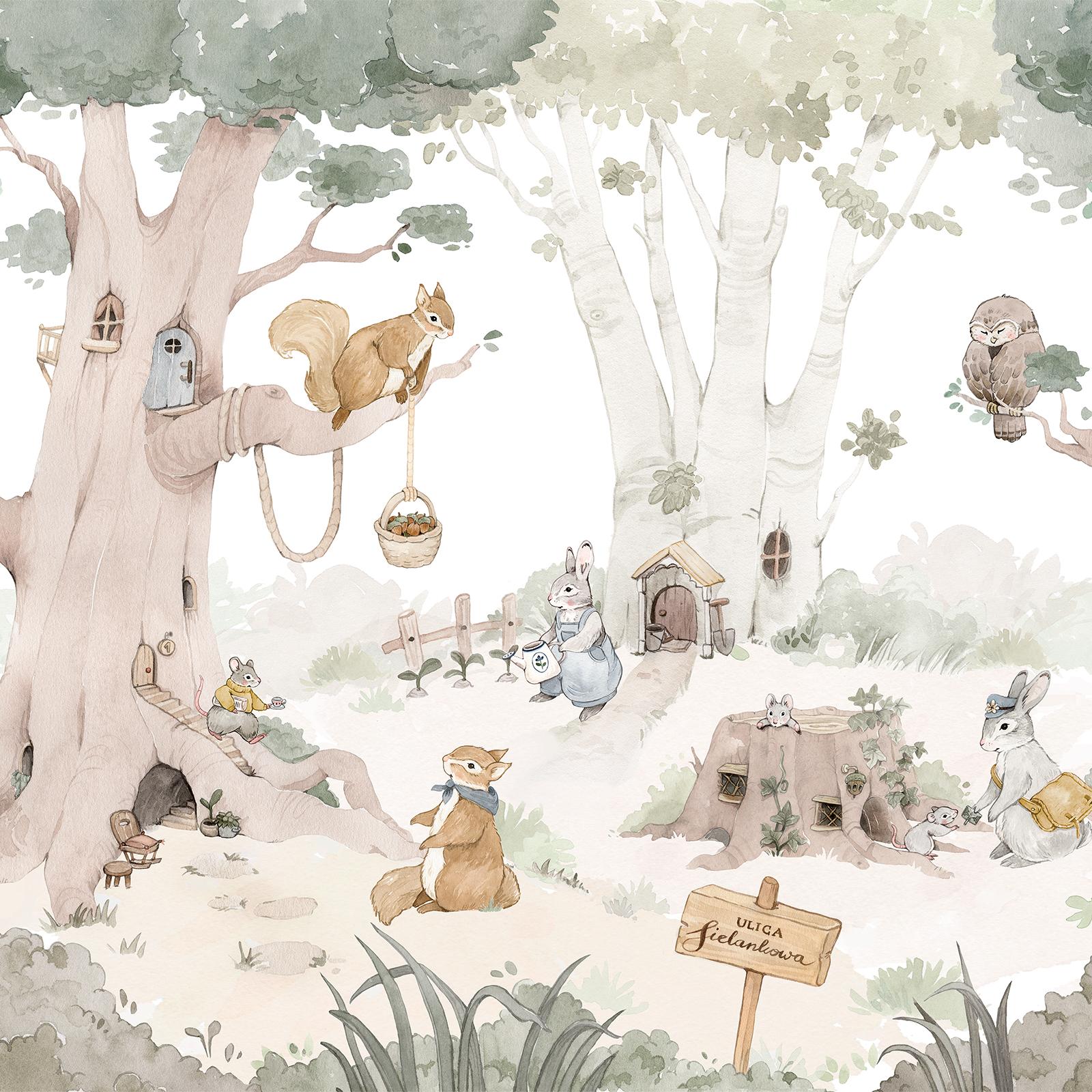 tapeta-ze-zwierzetami-lesna