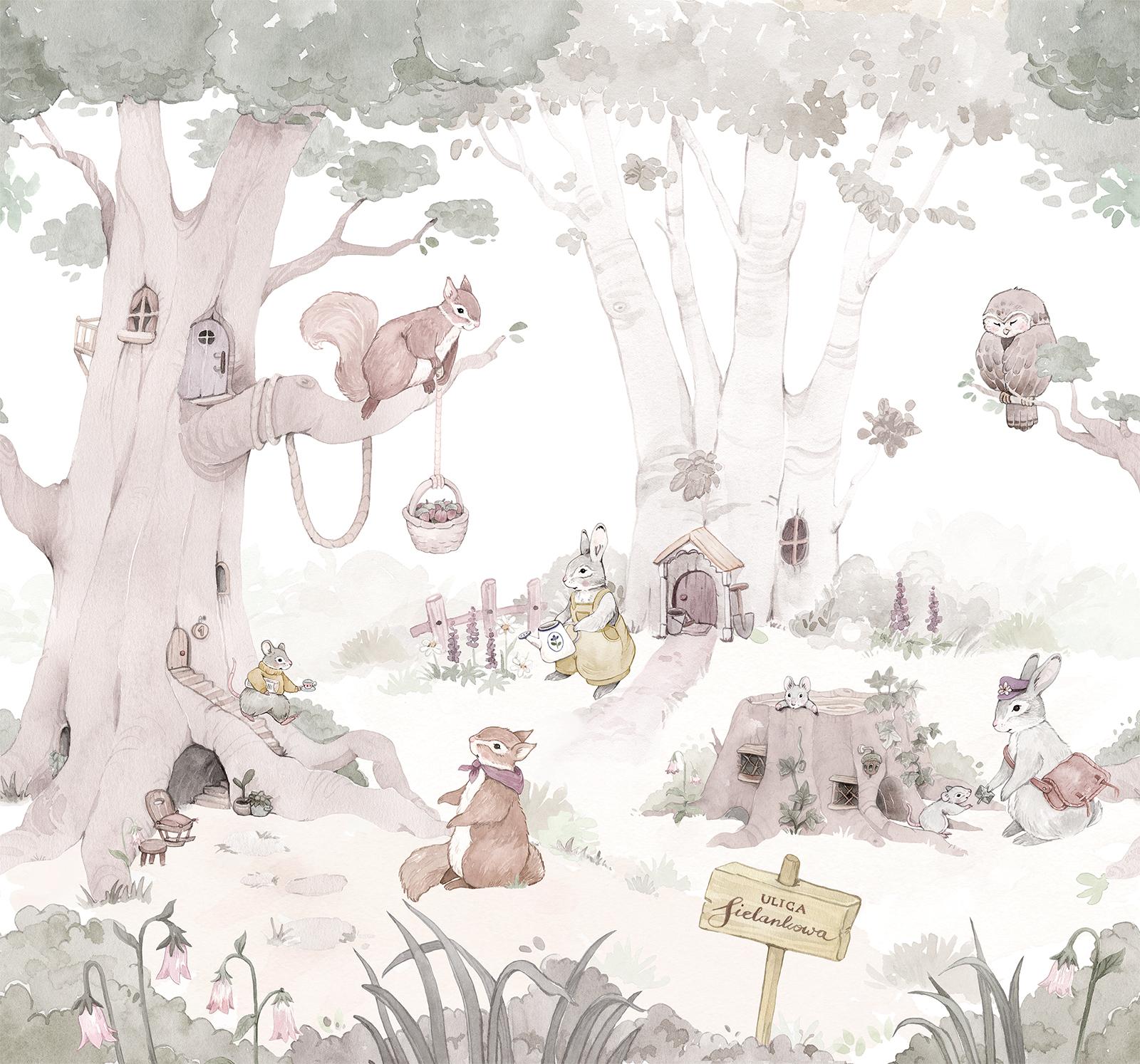 tapeta-lesna-dla-dziewczynki